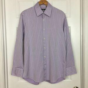 Hugo Boss Men's 16 32/33 Purple Button Down Shirt